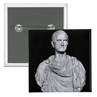 Bust of Marcus Licinius Crassus 2 Inch Square Button