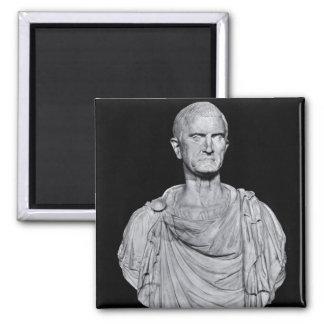 Bust of Marcus Licinius Crassus 2 Inch Square Magnet