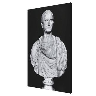 Bust of Marcus Licinius Crassus Canvas Print
