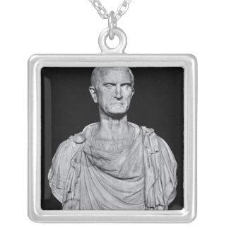 Bust of Marcus Licinius Crassus Square Pendant Necklace
