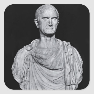 Bust of Marcus Licinius Crassus Square Sticker