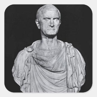 Bust of Marcus Licinius Crassus Square Sticker