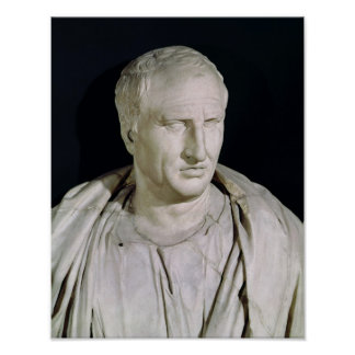 Bust of Marcus Tullius Cicero Posters