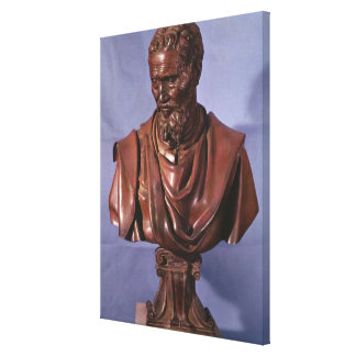 Bust of Michelangelo Buonarroti Canvas Print