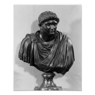Bust of Nero , copy of an original Poster