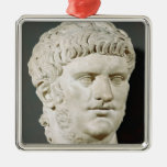 Bust of Nero Square Metal Christmas Ornament