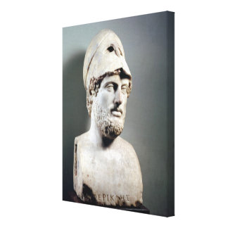 Bust of Pericles  copy of a Greek original Canvas Print