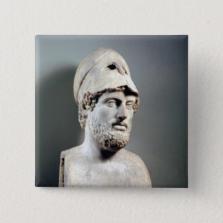 Bust of Pericles  copy of a Greek original Pinback Button