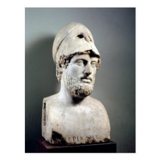 Bust of Pericles  copy of a Greek original Postcard