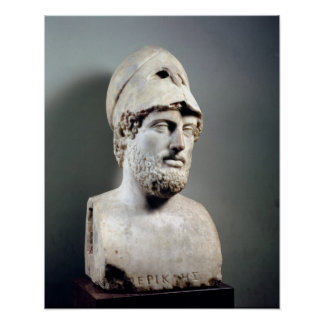 Bust of Pericles  copy of a Greek original Poster