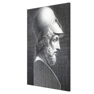 Bust of Pericles, engraved by Giuseppe Cozzi Canvas Print