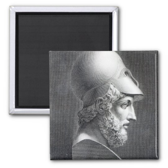 Bust of Pericles, engraved by Giuseppe Cozzi Magnet