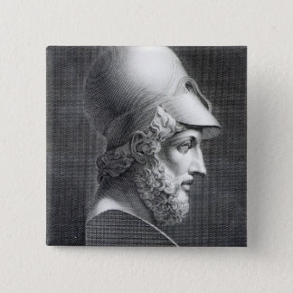 Bust of Pericles, engraved by Giuseppe Cozzi Pinback Button
