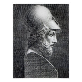 Bust of Pericles, engraved by Giuseppe Cozzi Poster