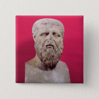 Bust of Plato  copy of a 4th century BC original Button