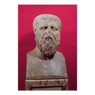 Bust of Plato  copy of a 4th century BC original Poster