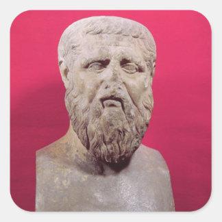 Bust of Plato  copy of a 4th century BC original Square Sticker