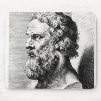 Bust of Plato engraved by Lucas Emil Mouse Pad