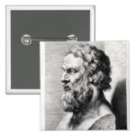 Bust of Plato engraved by Lucas Emil Pinback Button