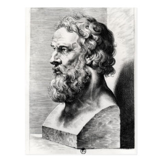 Bust of Plato engraved by Lucas Emil Postcard