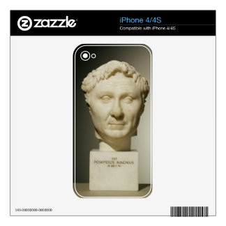 Bust of Pompey (106-48 BC) c.60 BC (marble) Decal For The iPhone 4S