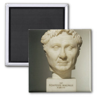 Bust of Pompey (106-48 BC) c.60 BC (marble) Magnet