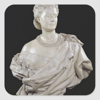 Bust of Princess Mathilde  c.1862-63 Square Sticker