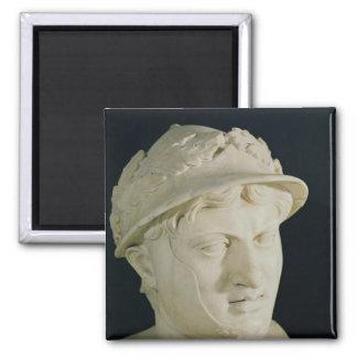 Bust of Pyrrhus 2 Inch Square Magnet