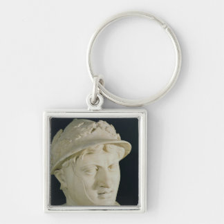 Bust of Pyrrhus Silver-Colored Square Keychain