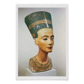 Bust of Queen Nefertiti, from the studio of the sc Poster