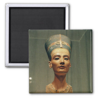 Bust of Queen Nefertiti, front view 2 Inch Square Magnet