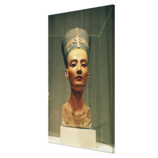 Bust of Queen Nefertiti, front view Canvas Print