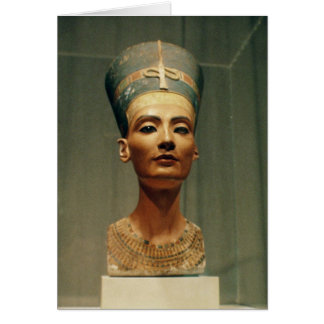 Bust of Queen Nefertiti front view Greeting Card