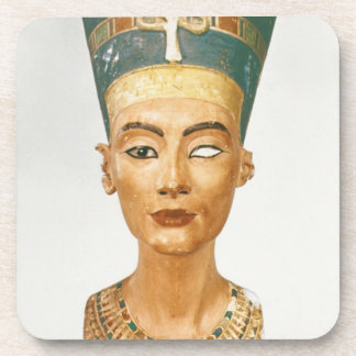 Bust of Queen Nefertiti, front view, from the stud Beverage Coaster