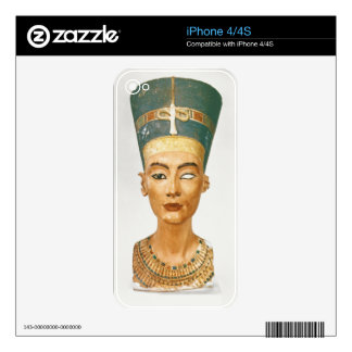 Bust of Queen Nefertiti, front view, from the stud iPhone 4S Decal