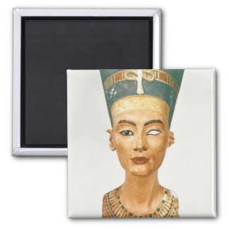 Bust of Queen Nefertiti, front view, from the stud Fridge Magnet