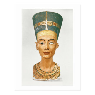 Bust of Queen Nefertiti, front view, from the stud Postcard