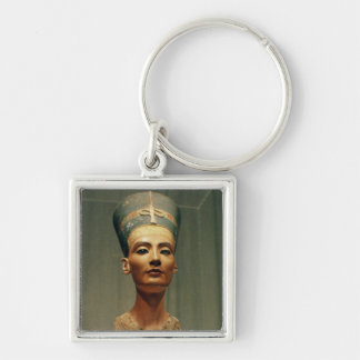 Bust of Queen Nefertiti front view Keychains