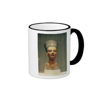 Bust of Queen Nefertiti front view Mugs