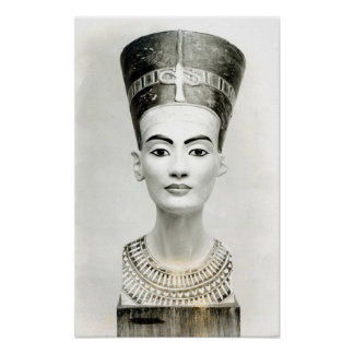 Bust of Queen Nefertiti Poster