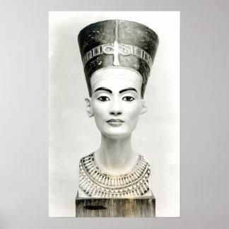 Bust of Queen Nefertiti Poster