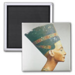 Bust of Queen Nefertiti, side view, from the studi 2 Inch Square Magnet