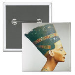 Bust of Queen Nefertiti, side view, from the studi 2 Inch Square Button