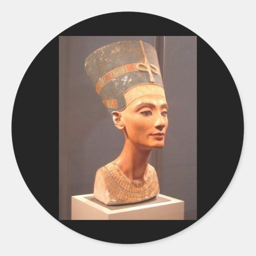 Bust of Queen Nefertiti Round Sticker