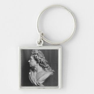 Bust of Robert de Cotte, 1707 Silver-Colored Square Keychain