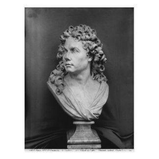Bust of Robert de Cotte, 1707 Postcard