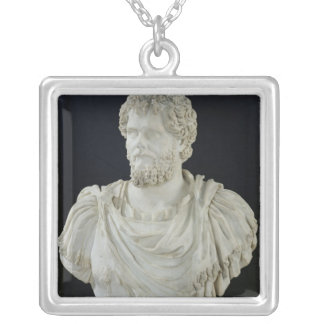 Bust of Septimus Severus Silver Plated Necklace