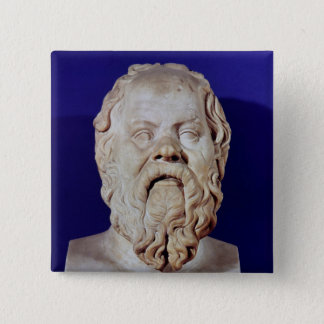 Bust of Socrates Button