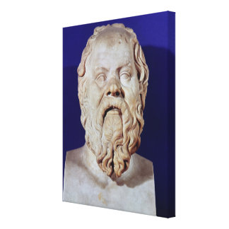 Bust of Socrates Gallery Wrap Canvas