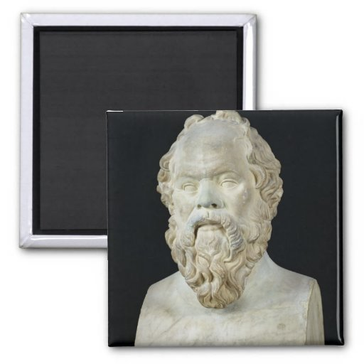 Bust of Socrates Refrigerator Magnets